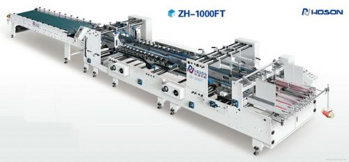 ZH-1000FT (HOSON) KUTU KATLAMA VE YAPIŞTIRMA MAKİNESİ (YAN YAPIŞTIRMA) (GENİŞLİK 72 cm.) (280-800 gr/m² KARTON KUTULAR İÇİN) (SIFIR) (ÇİN MALI) (2 YIL GARANTİLİ) (YENİ İTHAL)